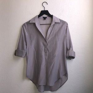 Ann Taylor Rolled Sleeve Top Silk Blend Size XS